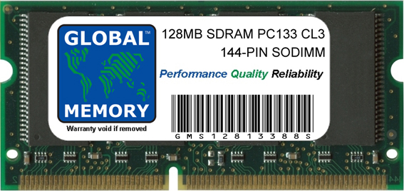 128MB SDRAM PC133 133MHz 144-PIN SODIMM MEMORY RAM FOR COMPAQ LAPTOPS/NOTEBOOKS
