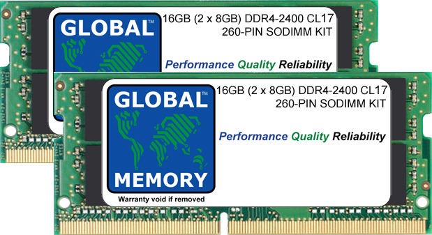 16GB (2 x 8GB) DDR4 2400MHz PC4-19200 260-PIN SODIMM MEMORY RAM KIT FOR PACKARD BELL LAPTOPS/NOTEBOOKS