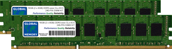 16GB (2 x 8GB) DDR3 800/1066/1333/1600/1866MHz 240-PIN ECC DIMM (UDIMM) MEMORY RAM KIT FOR ACER SERVERS/WORKSTATIONS