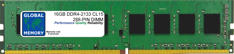 16GB DDR4 2133MHz PC4-17000 288-PIN DIMM MEMORY RAM FOR PC DESKTOPS/MOTHERBOARDS