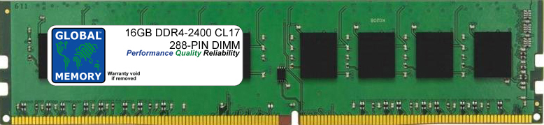 16GB DDR4 2400MHz PC4-19200 288-PIN DIMM MEMORY RAM FOR PC DESKTOPS/MOTHERBOARDS