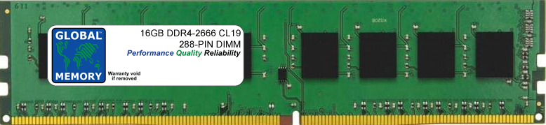 16GB DDR4 2666MHz PC4-21300 288-PIN DIMM MEMORY RAM FOR PC DESKTOPS/MOTHERBOARDS