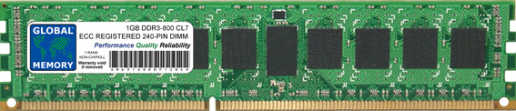 1GB DDR3 800MHz PC3-6400 240-PIN ECC REGISTERED DIMM (RDIMM) MEMORY RAM FOR ACER SERVERS/WORKSTATIONS (1 RANK NON-CHIPKILL)