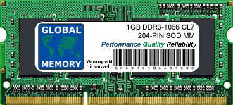 1GB DDR3 1066MHz PC3-8500 204-PIN SODIMM MEMORY RAM FOR HEWLETT-PACKARD LAPTOPS/NOTEBOOKS