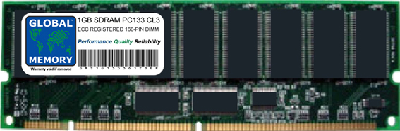 1GB SDRAM PC133 133MHz 168-PIN ECC REGISTERED DIMM MEMORY RAM FOR SERVERS/WORKSTATIONS/MOTHERBOARDS