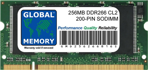 256MB DDR 266MHz PC2100 200-PIN SODIMM MEMORY RAM FOR FUJITSU-SIEMENS LAPTOPS/NOTEBOOKS