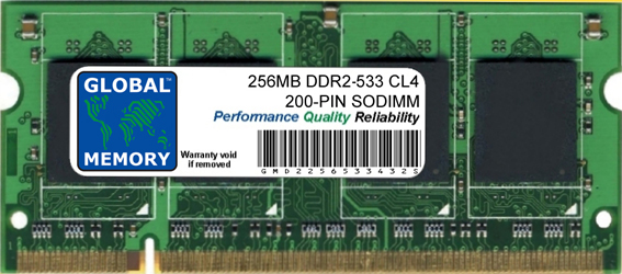 256MB DDR2 533MHz PC2-4200 200-PIN SODIMM MEMORY RAM FOR SAMSUNG LAPTOPS/NOTEBOOKS