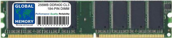 256MB DDR 400MHz PC3200 184-PIN DIMM MEMORY RAM FOR ADVENT DESKTOPS