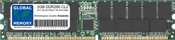2GB DDR 266MHz PC2100 184-PIN ECC REGISTERED DIMM (RDIMM) MEMORY RAM FOR IBM SERVERS/WORKSTATIONS (CHIPKILL)