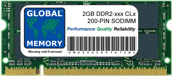 2GB DDR2 533/667/800MHz 200-PIN SODIMM FOR MEMORY RAM TOSHIBA LAPTOPS/NOTEBOOKS