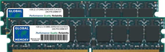 2GB (2 x 1GB) DDR2 533MHz PC2-4200 240-PIN ECC DIMM (UDIMM) MEMORY RAM KIT FOR ACER SERVERS/WORKSTATIONS