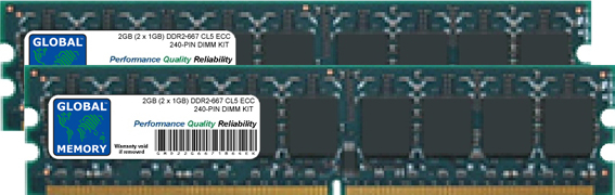 2GB (2 x 1GB) DDR2 667MHz PC2-5300 240-PIN ECC DIMM (UDIMM) MEMORY RAM KIT FOR ACER SERVERS/WORKSTATIONS
