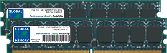 2GB (2 x 1GB) DDR2 800MHz PC2-6400 240-PIN ECC DIMM (UDIMM) MEMORY RAM KIT FOR ACER SERVERS/WORKSTATIONS