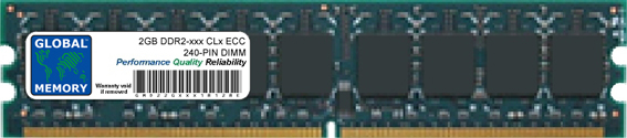 2GB DDR2 533/667/800MHz 240-PIN ECC DIMM (UDIMM) MEMORY RAM FOR IBM SERVERS/WORKSTATIONS