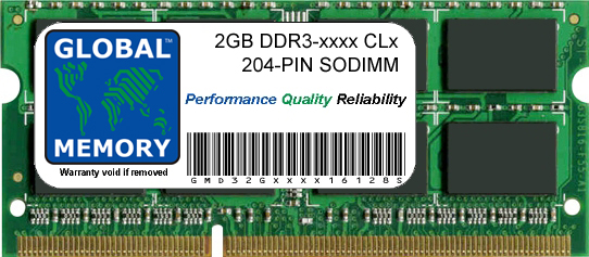 2GB DDR3 1066/1333/1600MHz 204-PIN SODIMM MEMORY RAM FOR DELL LAPTOPS/NOTEBOOKS