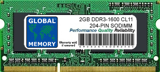 2GB DDR3 1600MHz PC3-12800 204-PIN SODIMM MEMORY RAM FOR ACER LAPTOPS/NOTEBOOKS