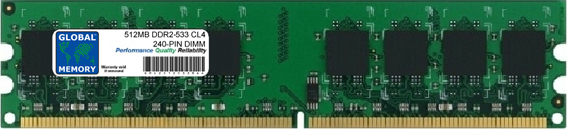 512MB DDR2 533MHz PC2-4200 240-PIN DIMM MEMORY RAM FOR FUJITSU-SIEMENS DESKTOPS