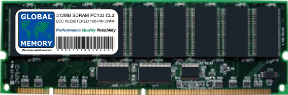 512MB SDRAM PC133 133MHz 168-PIN ECC REGISTERED DIMM MEMORY RAM FOR ACER SERVERS/WORKSTATIONS