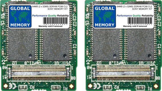 64MB (2 x 32MB) SDRAM PC66 MEMORY RAM KIT FOR SONY LAPTOPS/NOTEBOOKS