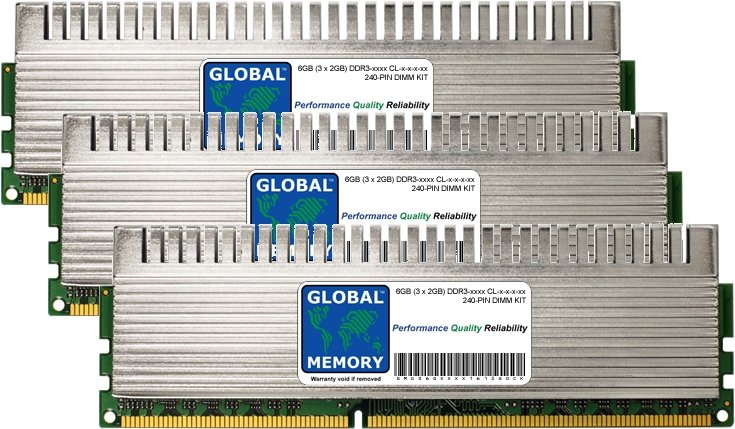 6GB (3 x 2GB) DDR3 1600/1800/2000/2133MHz 240-PIN OVERCLOCK DIMM MEMORY RAM KIT FOR PC DESKTOPS/MOTHERBOARDS