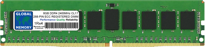 8GB DDR4 2400MHz PC4-19200 288-PIN ECC REGISTERED DIMM (RDIMM) MEMORY RAM FOR ACER SERVERS/WORKSTATIONS (1 RANK CHIPKILL)