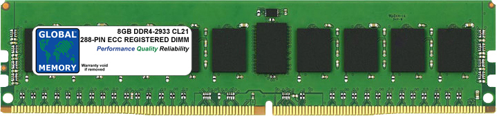 8GB DDR4 2933MHz PC4-23400 288-PIN ECC REGISTERED DIMM (RDIMM) MEMORY RAM FOR ACER SERVERS/WORKSTATIONS (1 RANK CHIPKILL)